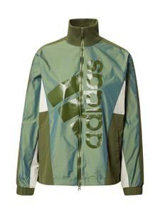 ADIDAS PERFORMANCE Sportjacke oliv / weiß / pastellgrün