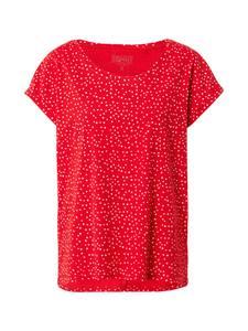 ESPRIT T-Shirt rot / weiß