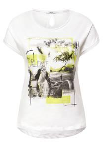 CECIL Damen T-Shirt mit Fotoprint in Weiß