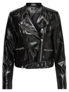 ONLY Biker-Kunstlederjacke schwarz
