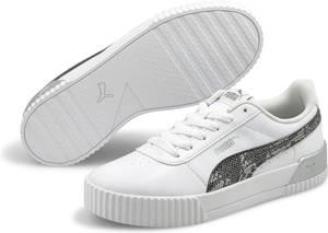 PUMA Carina Untamed Dames Sneakers - Puma White-Silver - Maat 38