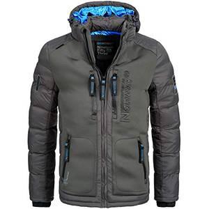Geographical Norway BREVSTER Herren Winterjacke Jacke Outdoor Ski warm Gr. S-XXXL 2-Farben, Größe:M;Farbe:Grau