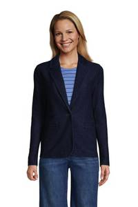 Soft Denim Jerseyblazer SPORT KNIT in Petite-Größe, Damen, Größe: S Petite, Blau, by Lands'' End, Tief Indigo