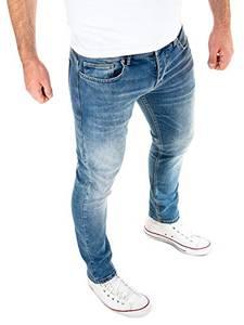 WOTEGA Jeans Herren Slim fit Alistar - Blaue Hose für Männer Straight - Blaue Stretch Jeanshosen - Denim Hosen, Blau (Insignia Blue 194028), W32/L32