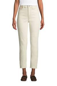 Natur Straight Fit Jeans High Waist, knöchellang in Petite-Größe, Damen, Größe: XS Petite, Elfenbein, Baumwoll-Mischung, by Lands'' End, Natur