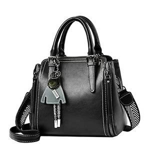 Tisdaini® Damenhandtaschen Mode Vintage Schultertaschen Shopper Umhängetaschen Schwarz
