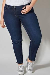 Slim Fit Jeans mit Ziernieten dunkelblau Sara Lindholm