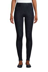 High Waist Jeggings in Petite-Größe, Damen, Größe: 34 28 Petite, Blau, Elasthan, by Lands'' End, Tiefes Indigo