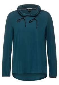 CECIL Damen Sportive Bluse mit Kragen in Grün