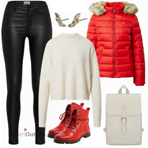 Roter Winterlook FrauenOutfits.ch