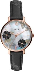 FOSSIL Uhr ''Jacqueline'' blau / rosegold / schwarz