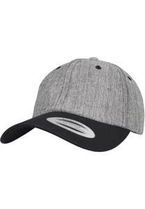 Flexfit Cap schwarzmeliert / weiß