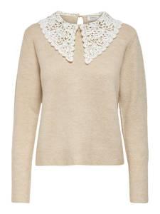 ONLY Pullover ''LILJA'' beige / weiß