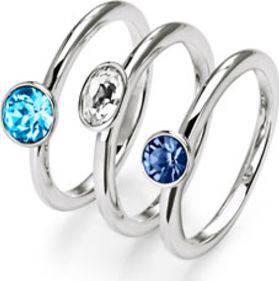 Ring-Set mit Swarovski® Kristallen