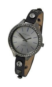 heine Armbanduhr schwarz / anthrazit / silber / grau