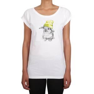 Iriedaily Shirt ''It Hasi'' weiß / gelb