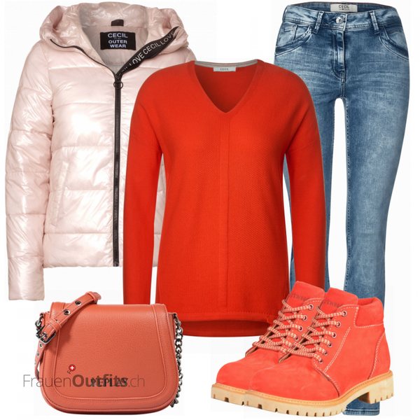 Buntes Herbst Outfit FrauenOutfits.ch