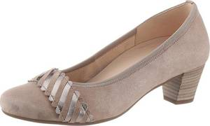 GABOR Pumps taupe / silber