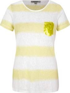 Ci comma casual identity T-Shirt gelb / weiß / zitrone