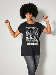 Shirt schwarz/silberfarben Angel of Style