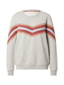NÜMPH Sweatshirt ''NAGIDA'' hellgrau / weiß / apricot / pastellrot