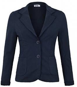 Damen Blazer Vintage Style ( 611 ), Farbe:Dunkelblau, Blazer 1:36 / S