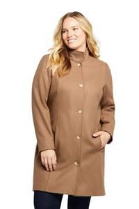 Mantel aus Wollmixin großen Größen