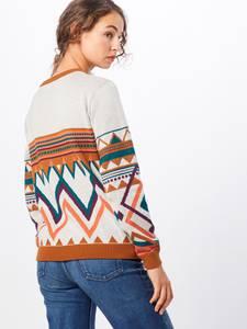 Iriedaily Pullover ''Hopi'' ecru / orangerot / petrol / hummer / offwhite