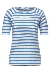 Raglan t-shirt met strepen - provence blue