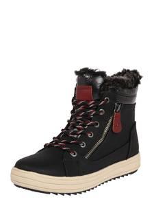 TOM TAILOR Snowboots schwarz / dunkelrot