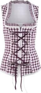 Trachten-Corsage mit Reißverschluss ohne Ärmel  in lila für Damen von bonprix