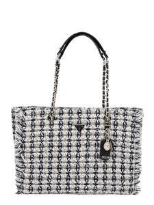 GUESS Handtasche ''Cessily'' schwarz / gold / weiß