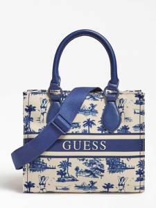 GUESS Handtasche ''Ederle'' blau / beige