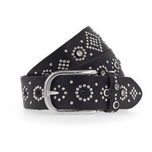 b.belt Handmade in Germany Gürtel ''Mea'' schwarz / silber