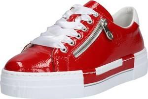 RIEKER Sneaker feuerrot / weiß