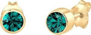ELLI Ohrringe gold / smaragd