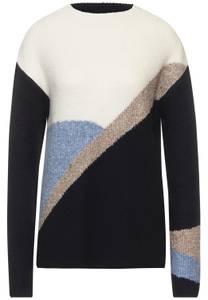 Pullover met opstaande kraag - dark vintage blue