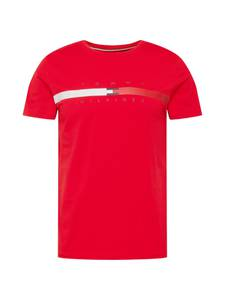 TOMMY HILFIGER Shirt rot / weiß