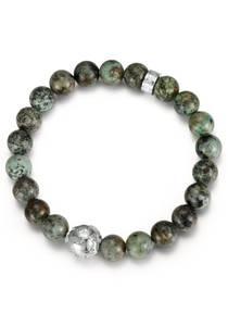 FIRETTI Armband grau / dunkelgrün