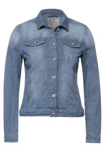 Denim jas met strepen  - light blue used wash