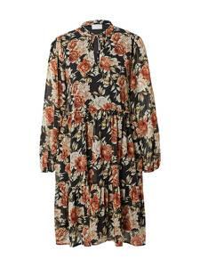 VILA Kleid ''URA'' schwarz / weiß / rostbraun