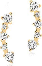 Sif Jakobs Jewellery Ohrringe Silber rhodiniert mit weißen gefassten Zirkonia