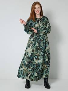 Web-Kleid khaki/salbeigrün Sara Lindholm