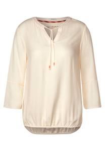 CECIL Damen Bluse mit Struktur-Optik in Weiß,Beige