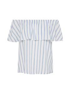 ONLY Shirt hellblau / weiß