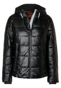 CECIL Damen Jacke mit Waxed Coating in Schwarz