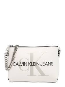 Calvin Klein Jeans Umhängetasche ''CAMERA POUCH W/CHAIN'' weiß / schwarz