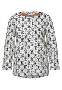 Shirt met structuur dessin - off white