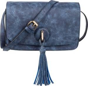 Umhängetasche mit Quaste in blau für Damen von bonprix