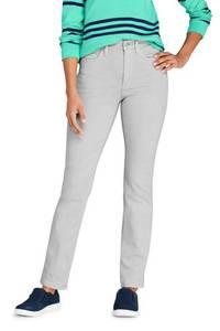 Farbige Shaping Jeans EcoVero, Straight Fit High Waist, Damen, Größe: 34 30 Normal, Grün, Viskose, by Lands'' End, Dunkel Olivgrün